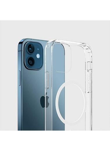 Wiwu Apple iPhone 12 Kılıf Magnetic Crystal Case Renksiz